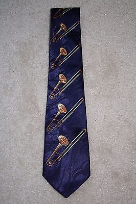 Men's Novelty Tie Trombones Brass Instrument Music Band Steven Harris • 9.99$