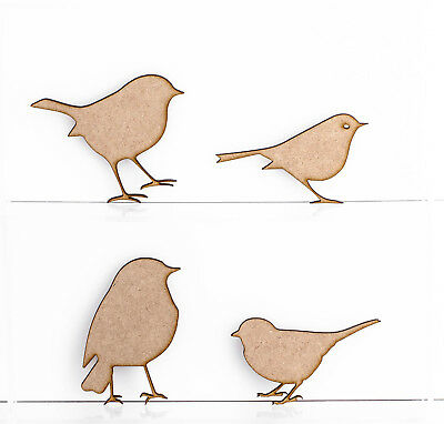 Wooden MDF Robins Christmas Tree Decoration 3mm Thick Gift Tag Blank Laser Cut • 2.65£