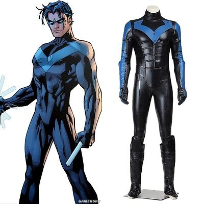 31ca7e100a52 Top Grade Batman Young Justice Nightwing Cosplay Costume Full Set • 139.89