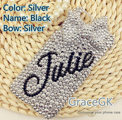 $ CDN26.29 • Buy Customize Personalized Name Bling Rhinestone Phone Case Cover For Various Phone