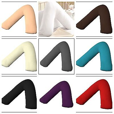 100% Egyptian Cotton 200 Thread Count V Shaped Pillow Case Cover Orthopedic • 3.25£