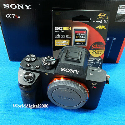 AU2579 • Buy SONY A7R Ll A7RM2  ILCE-7RM2 -Only Body- 4K Recording 13 Languages Selectable !
