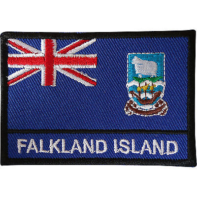 Falkland Islands Flag Patch Sew On Cloth Jacket Jeans T Shirt Embroidered Badge • 2.79£