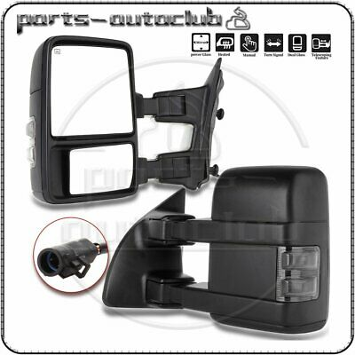 $139.78 • Buy Power Heated SMOKE Turn Signal Light For 99-07 Ford F250 Super Duty Tow Mirrors
