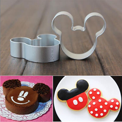 Mickey Mouse Cutter Sugarcraft Cake Decorating Cookies Pastry Mold Baking • 0.99£