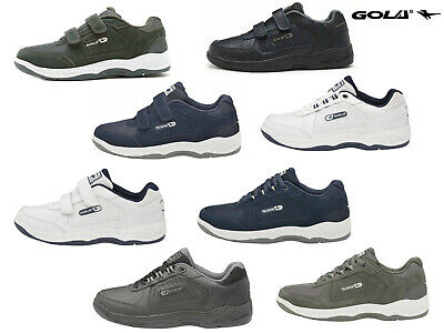 Mens Gola Belmont Trainers Wide Fit EE Active Casual Leather Shoes Sizes 7-15 • 29.99£