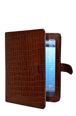 $41.20 • Buy IPAD 2 3 & 4 TAN CROC Print Luxury Real Genuine Leather Cover Case Stand