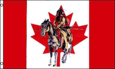 $8.88 • Buy 3x5 Canada Canadian Indian Horse Flag 3'x5' Banner Brass Grommets