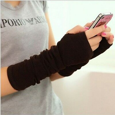 Women Cute Protection Arm Warmer Long Fingerless Stretchy Gloves Sleeves Mittens • 3.49£