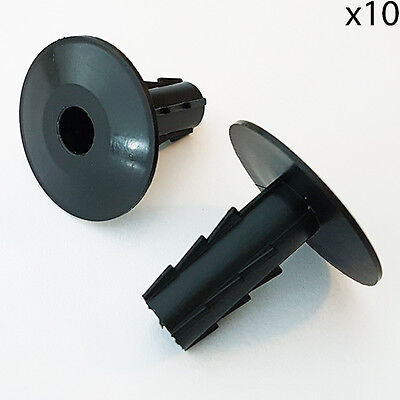 £4.49 • Buy 10x 8mm Black Single Cable Bushes -Feed Through Wall Cover-Coaxial/Sat Hole Tidy