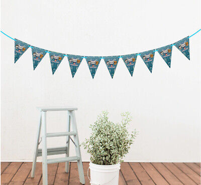New Decoration Theme Disney Frozen Party Flag Banner Bunting 1 Set 2.5m 10 Flags • 3.29£