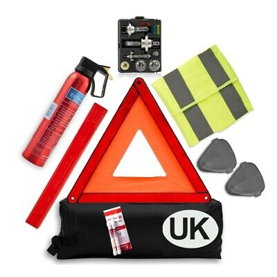 £25.99 • Buy Travel Abroad Euro European Gold Car Kit With France Breathalysers