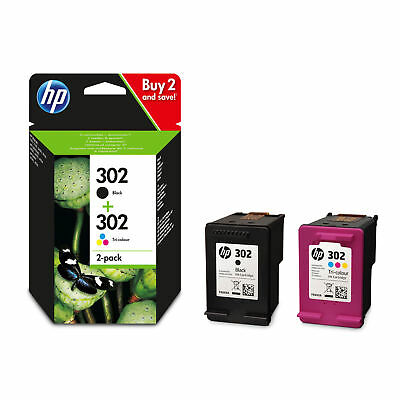 HP 302 Black & Colour Ink Cartridge Combo Pack For ENVY 4527 Printer • 27.75£
