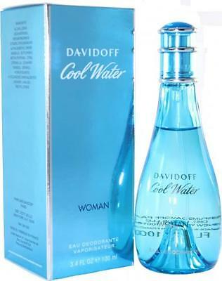 Davidoff Cool Water Woman 100ml Eau Deodorante Natural Spray Brand New & Boxed • 11.25£
