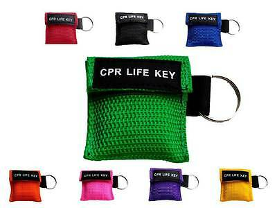 CPR Life Key / Resusitation Face Shield In Key Ring Pouch Ambulance 999 • 3.49£