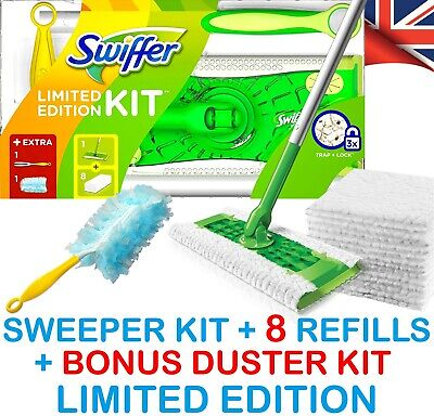 Swiffer Sweeper: 3 In 1 Mop, Broom & Duster Floor Kit, Flash Speedmop Compatible • 19.99£