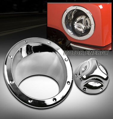 $59.95 • Buy 06-10 Hummer H3 Gas Tank Covers Fuel Door Bezel Cap Moulding Trim Chrome New Set
