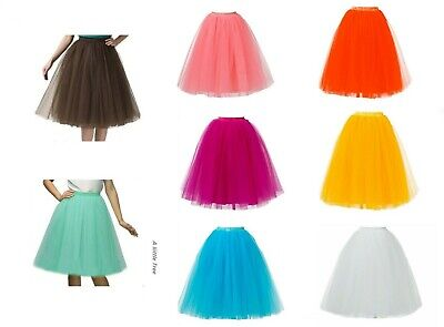 5 Layers Long Ladies Girls Women Ballet Fancy Tutu  Skirts Underskirts Petticoat • 12.99£