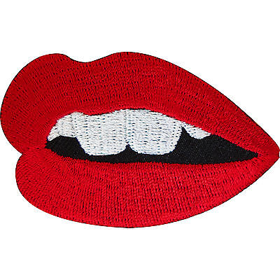 Embroidered Iron On Mouth Sexy Red Lips Patch Sew On Badge Embroidery Applique • 2.79£