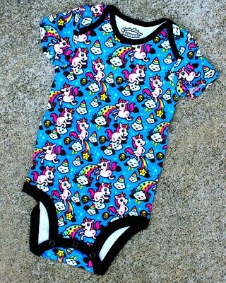 AU19.95 • Buy Harebrained Fantastically Gross One Piece Romper Baby Unicorn Rainbow Colourful