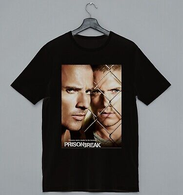 Prison Break Poster Michael Scofield Lincoln Burrows Ideal Gift Cool T-shirt • 6.99£