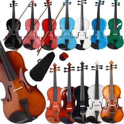 $33.24 • Buy New Colorful 4/4 3/4 1/2 1/4 1/8 Size Acoustic Violin Fiddle With Case Bow Rosin