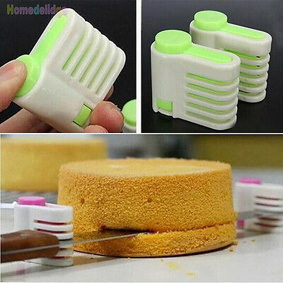 5 Layers Kitchen Cake Bread Cutter Leveler Slicer Cutting Fixator DIY Tools • 1.38£