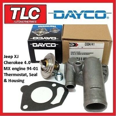 AU55 • Buy Jeep XJ Cherokee Thermostat, Housing And Gasket 94-01 4.0 MX Engine