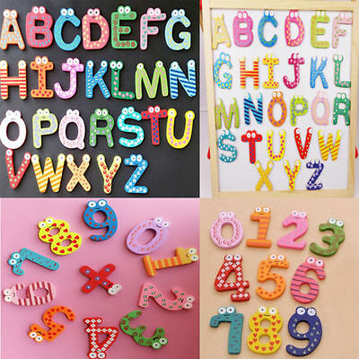 £2.49 • Buy Funky Fun Colourful Wooden Magnetic Numbers Alphabet Letters Fridge Magnet Toy