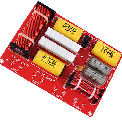 AU77.80 • Buy 2pcs 250W 3 Way Hifi Speaker Frequency Divider Audio Crossover Filter Circuit