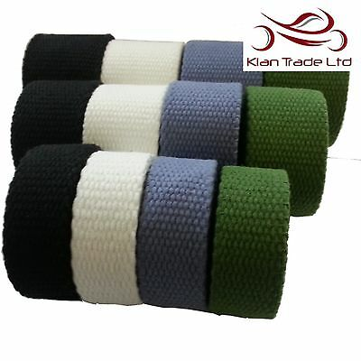 3.5MM Thick STRONG Canvas Cotton Tape Webbing Belt Fabric Yoga Strap Bag DIY WW2 • 13.99£