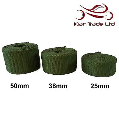 3.5 Thick STRONG OLIVE GREEN Canvas Cotton Tape Webbing Belt Strap Bag DIY WW2  • 10.99£