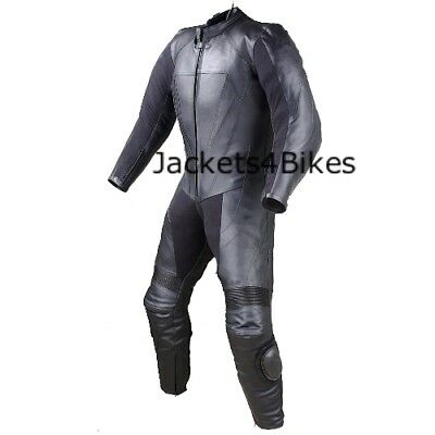 $219.73 • Buy New Men's 1PC One-Piece Armor Leather Motorcycle Racing Suit W/ Hump US Size