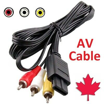 AU6.15 • Buy For SNES Super Nintendo 64 N64 GameCube RCA AV Cable Cord Adapter Audio Video