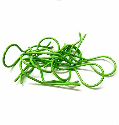 1/10 1/8 Remote Control RC Car Green 30mm Long Body Cover Post R Clips Pin Shell • 2.38£