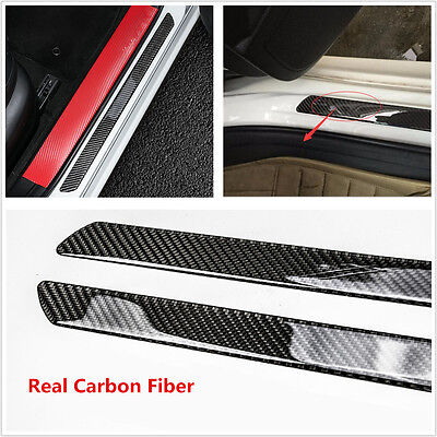 $ CDN30 • Buy Universal 2pc  Door Sill Carbon Fiber Car Scuff Plate Cover Panel Step Protector