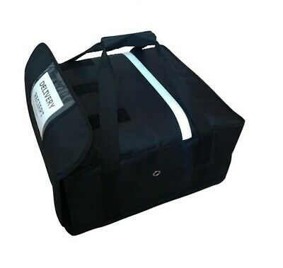 Heavy Duty Pizza Delivery Bag Size 18x18x8 Inch Full Insulated Easy Fit 4Pizzas • 19.95£