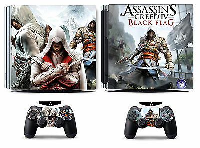 AU15.09 • Buy Assassin 270 Vinyl Skin Sticker Cover For Sony PS4 Pro PlayStation 4 Pro Decals