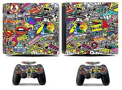 AU15.09 • Buy Bombing 262 Vinyl Skin Sticker Cover For Sony PS4 Pro PlayStation 4 Pro Decals