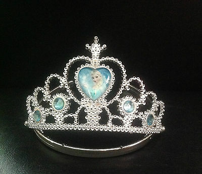 Disney Frozen Crown,Elsa Tiara And Necklace Set Fancy Dress Princess • 3.99£