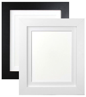£11.40 • Buy Metro White & Black Photo Picture Frames With White Or Black Mounts MDF Wood