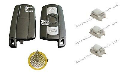£9.99 • Buy Repair Kit For BMW 1 3 5 6 7 Series E90 E92 E93 3 Button Key Switches & Battery