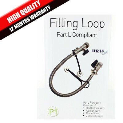 Gas Electric Combi Boiler Filling Loop Fill Loop Part L WRAS Approved Brand New • 8.90£