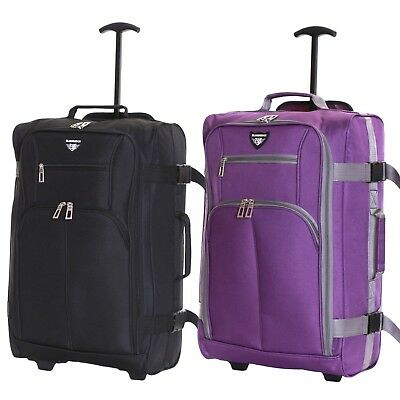 £11.99 • Buy Ryanair 55 Cm Cabin Carry On Hand Luggage Suitcase Approved Trolley Case Bag