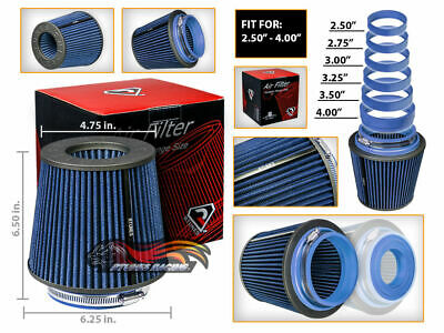 $22.99 • Buy Cold Air Intake Filter Universal Round/Cone BLUE For All Mustang All Models