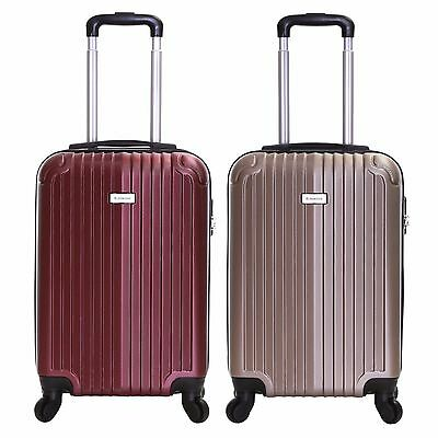 £22.99 • Buy Ryanair EasyJet 55 Cm Hard Cabin Approved Spinner Trolley Luggage Suitcase Case