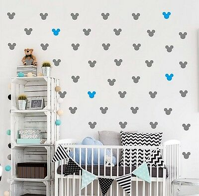 Mickey Mouse Wall Sticker Set Of Vinyl Art Home Decor 36 Room Home Decorations • 12.89£