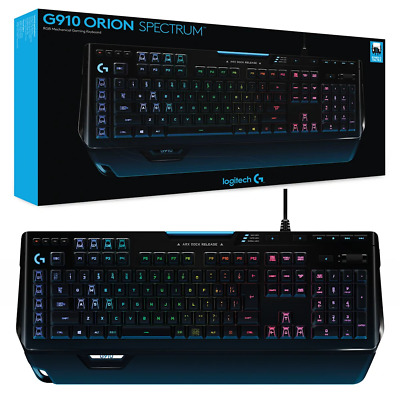 AU212.95 • Buy Logitech G910 Orion Spectrum RGB Mechanical Gaming Keyboard NEW