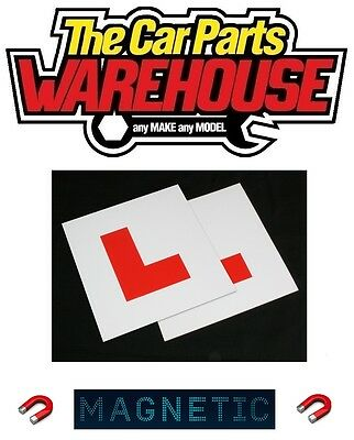 £2.49 • Buy 2 X L Plate Magnetic Exterior Car New Pair Learner Plates Secure & Safe