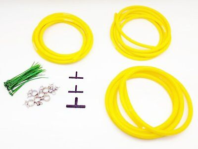 $29.90 • Buy AUTOBAHN88 Engine ROOM Silicone Air Vacuum Hose Dress Up Kit YELLOW Fit Mustang